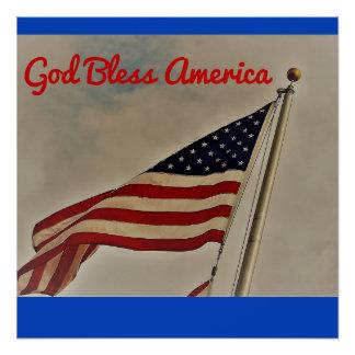 Gott segnen Amerika-Plakat Poster