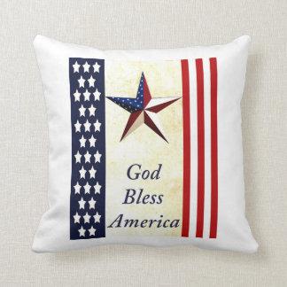 Gott segnen Amerika-Wurfs-Kissen Kissen