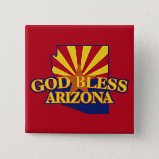 Gott segnen Arizona Quadratischer Button 5,1 Cm
