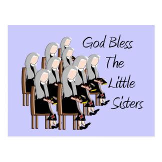 Gott segnen die kleinen Schwestern Postkarte