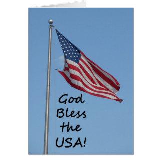 """Gott segnen die USA"" durch Carter L. Shepard Karte"
