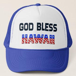 Gott segnen Hawaii Truckerkappe