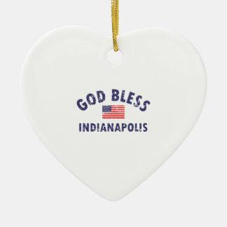 Gott segnen INDIANAPOLIS Keramik Ornament