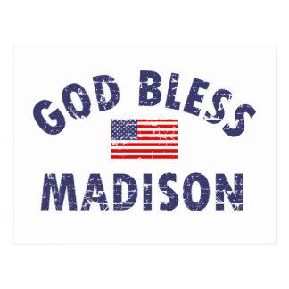 Gott segnen MADISON Postkarte