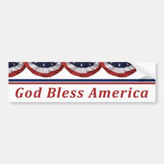 Gott segnen patriotische amerikanische Flagge Autoaufkleber