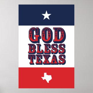 Gott segnen Texas Poster