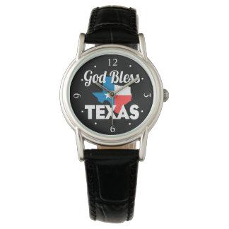 Gott segnen Texas Uhr