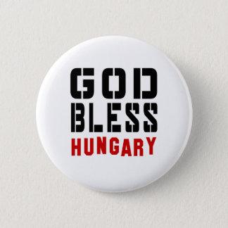 Gott segnen Ungarn Runder Button 5,1 Cm