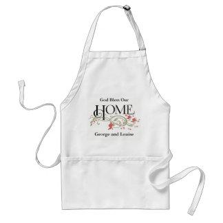 Gott segnen unser Zuhause: Personalisiert Schürze