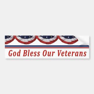 Gott segnen unsere Militärveterane Autoaufkleber
