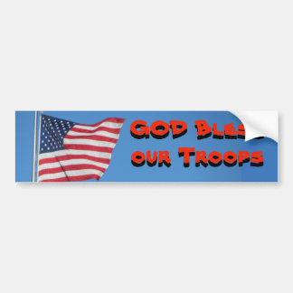 GOTT segnen unsere Truppen! Mit Flagge Autoaufkleber