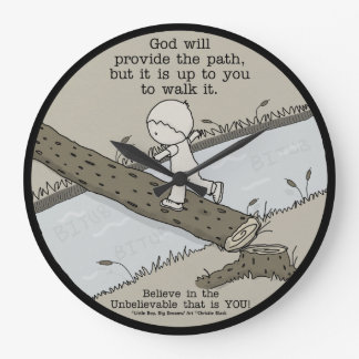 Gott stellt einen Weg zur Verfügung Große Wanduhr