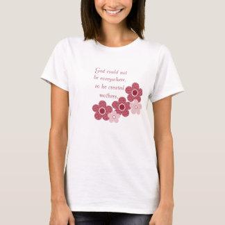 Gott stellte Mutter-gemusterten Blumen-T - Shirt, T-Shirt