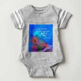 Gott und Voltaire in einem blauen Himmel Baby Strampler