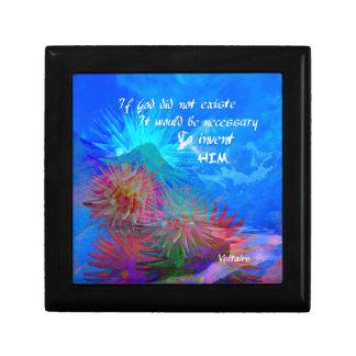 Gott und Voltaire in einem blauen Himmel Erinnerungskiste