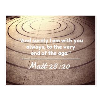 """Gott-Zitate: Matt-28:20 -- """"Mit Ihnen bebauen Sie Postkarte"""