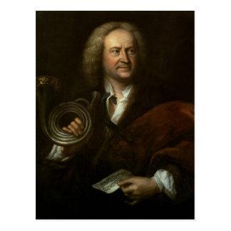 Gottfried Reiche, älterer Musiker und Solo Postkarte