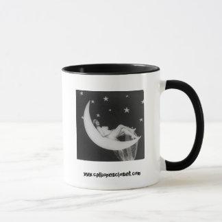 Göttin auf der Mond-Kaffee-Tasse Tasse