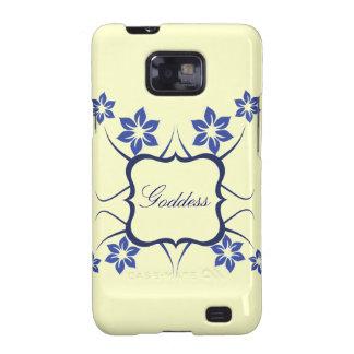 Göttin Blumen-Kasten BTs Samsung Galaxie-S2, blau Galaxy S2 Hüllen