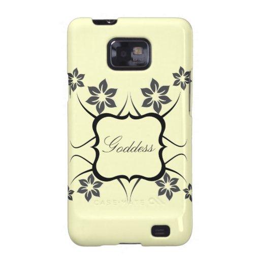 Göttin Blumen-Kasten BTs Samsung Galaxie-S2, grau Samsung Galaxy SII Hülle
