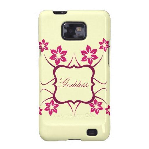 Göttin Blumen-Kasten BTs Samsung Galaxie-S2, rosa Galaxy S2 Case