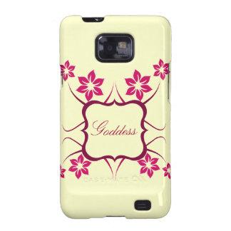 Göttin Blumen-Kasten BTs Samsung Galaxie-S2 rosa Galaxy S2 Case