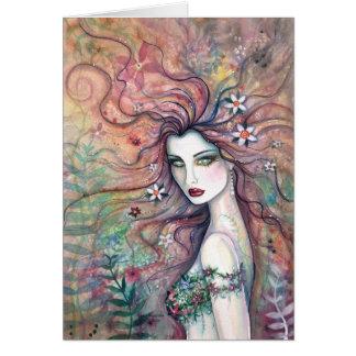 Göttin der Blumen-Karte durch Molly Harrison Grußkarte