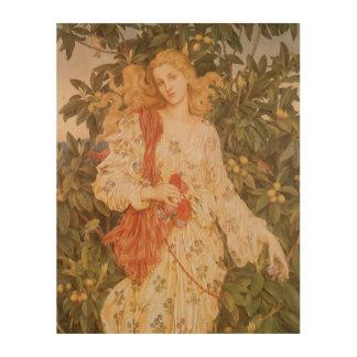 Göttin der Blüten und der Blumen, Flora durch Holzdruck