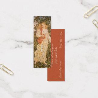 Göttin der Blüten und der Blumen, Flora durch Mini Visitenkarte