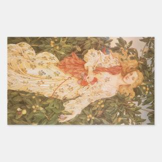 Göttin der Blüten und der Blumen, Flora durch Rechteckiger Aufkleber