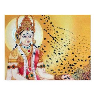 Göttin der Honig-Bienen-alten geistigen schöner Postkarte