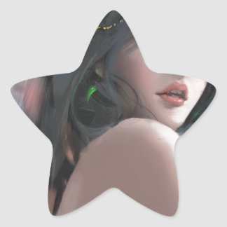 Göttin der Tinte Stern-Aufkleber