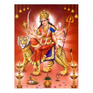 Göttin Durga (hindische Göttin) Postkarte