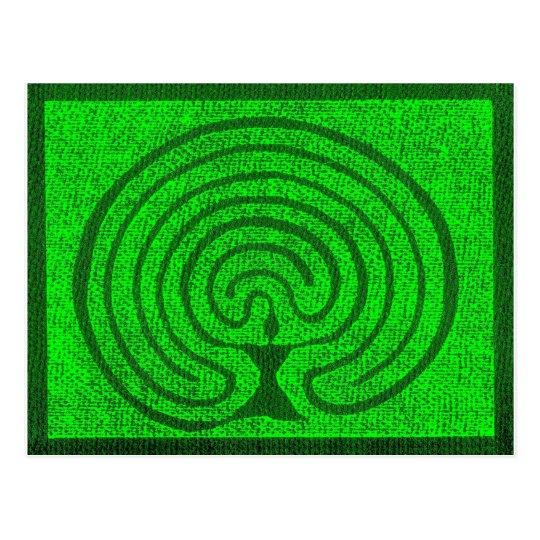 Göttin im Labyrinth 1 Postkarte