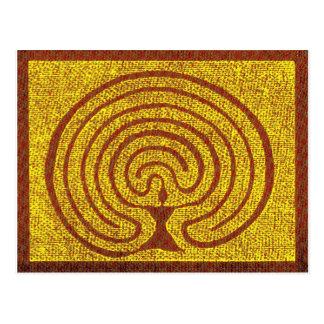 Göttin im Labyrinth 3 Postkarte