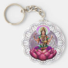 Göttin Lakshmi Mandala Schlüsselanhänger