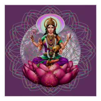 Göttin Lakshmi - Reichtumssegen-Mandala Poster