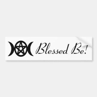 Göttin-Symbol-Pentagramm mit den gesegneten Monden Autoaufkleber
