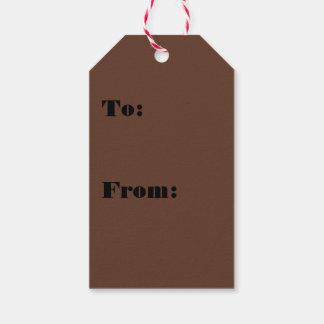 Göttlich Süßigkeiten-Brown-Farbe Geschenkanhänger