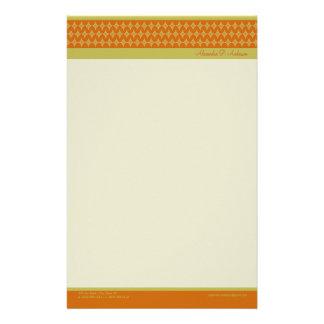 Göttliche Diamanten (Mandarine) fertigten Briefpap Büropapier