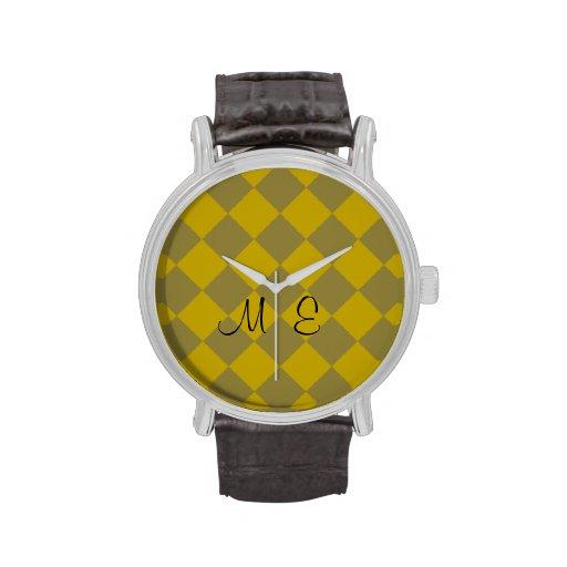 Göttlicher Diamant Patterns_Gold Olive_personalize Uhren