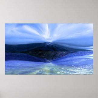 Göttlicher Meerblick-Landschaftsdruck oder Poster