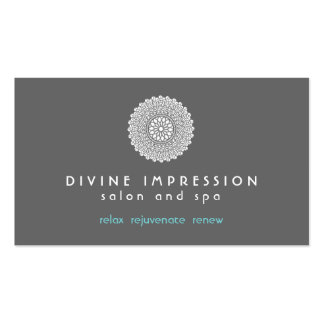 Göttliches Eindrucks-Blau 2 Visitenkarten