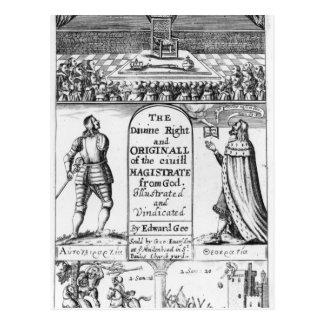 Göttliches Recht-ursprünglicher ziviler Richter Postkarte