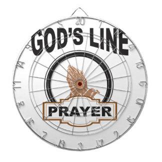 Gottlinie Gebet Dartscheibe