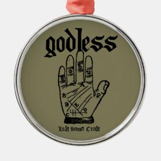 Gottloser Atheist Silbernes Ornament
