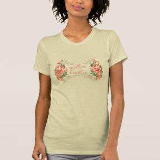 Gottloses heidnisches Elfenbein-Blument-stück T-Shirt