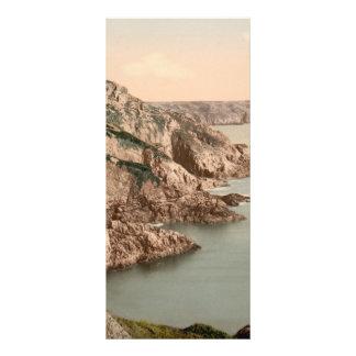 Gouffre Küste, Guernsey, Kanal-Inseln, England Werbekarte