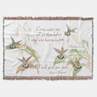 Goulds Kolibris kommen zur Jesus-Wurfs-Decke Decke
