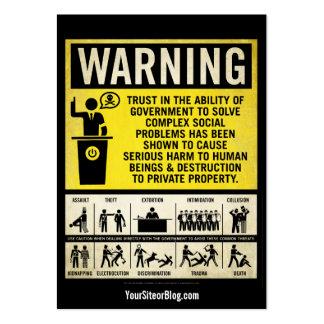 Governmet warnende Werbeaktion-Karten Visitenkartenvorlage